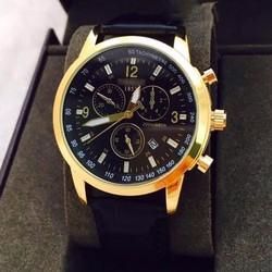 đồng hồ kim chống nước kính saphire dây da thật mã TS001