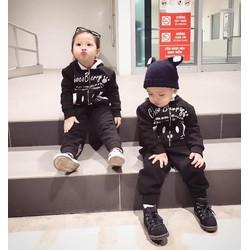 Sét mẹ và bé bộ áo khoác và quần dài