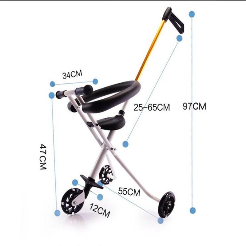 Xe đẩy 3 bánh gấp gọn thông minh dành cho bé 6