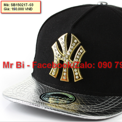 Nón Snapback, nón Hiphop logo kim loại phong cách và cá tính