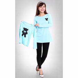 Combo áo thun cho mẹ và bé họa tiết gấu