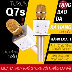 Micro karaoke kèm loa bluetooth hát trên điện thoại