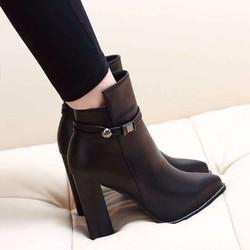Giày bốt nữ cao gót cổ cao đẹp giá rẻ nhất