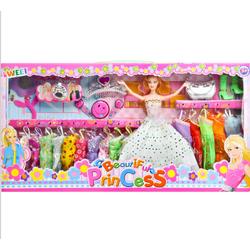 Nguyên bộ búp bê Barbie với váy áo và nữ trang dự tiệc