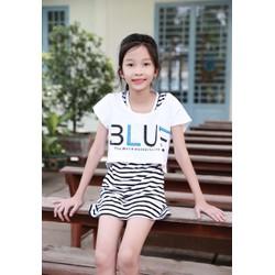 Set Đầm + Áo Mullet Blue Cho Bé - Trắng - CIRINO