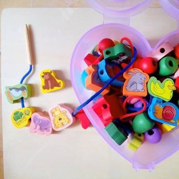 Kết quả hình ảnh cho Bộ xâu hạt hộp trái tim