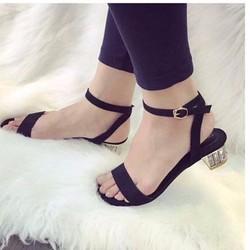 giày gót vuông cao 4cm 1772