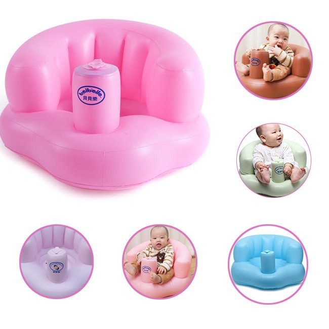 Ghế hơi tập ngồi cho bé bơm tự động 8