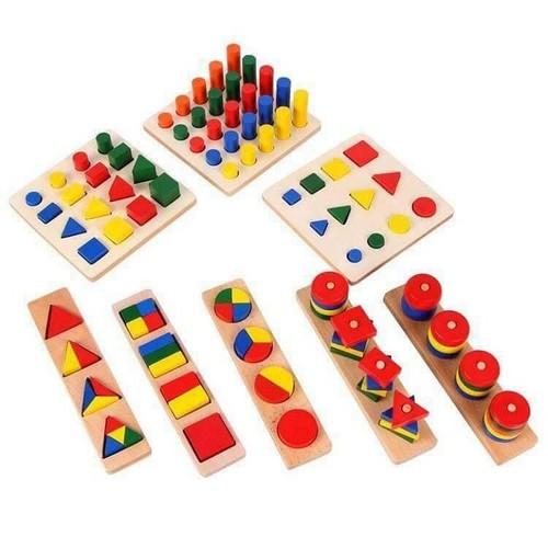 Bộ xếp 8 bảng gỗ hình học cho bé nhận biết theo phương pháp montessori - 4068916 , 10167848 , 15_10167848 , 329000 , Bo-xep-8-bang-go-hinh-hoc-cho-be-nhan-biet-theo-phuong-phap-montessori-15_10167848 , sendo.vn , Bộ xếp 8 bảng gỗ hình học cho bé nhận biết theo phương pháp montessori