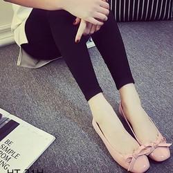 Giày búp bê nữ đính nơ mũi tròn HT 21H