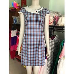 Đầm caro công sở