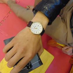 đồng hồ dây da chống nước chống xước nam