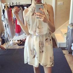 đầm suông voan họa tiết cực đẹp Mary Dress