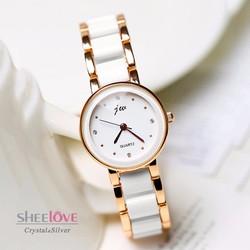 Đồng hồ nữ thời trang dây mắt xích lắc tay sang trọng WH-8067