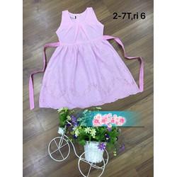 Váy thêu hoa cho bé gái 1-7 tuổi