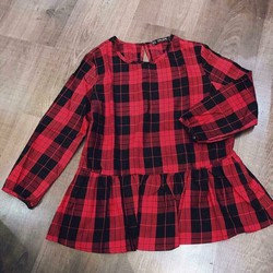 áo peplum caro đỏ