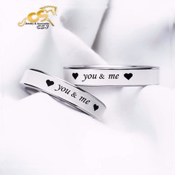 Nhẫn cặp đôi inox you and me - đẹp bền giá rẻ mẫu mới
