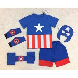 Đội trưởng Mỹ Captain America kèm phụ kiện set 5 - Nhãn hiệu Samkid