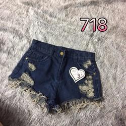 Quần short jean rách size s,m,l - A29032