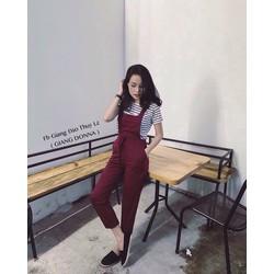 Set yếm áo sọc _MỎ CHU SHOP