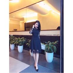 Đầm xoè phối ren _MỎ CHU SHOP