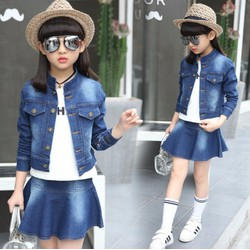 Sét áo và chân váy jean cho bé gái từ 4 đến 12 tuổi - HX114-8