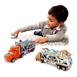 Mô hình xe tải container chở thú, ô tô loại lớn