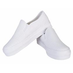 Giày lười nữ thời trang - Trắng