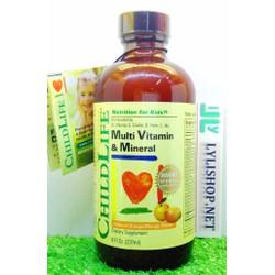 Childlife Multi Vitamin 237ml từ Mỹ vitamin cho bé 6 tháng đến 12 tuổi
