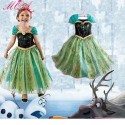 Đầm cho bé hóa thân công chúa Anna xinh đẹp