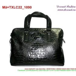 Túi xách laptop da dập vân cá sấu sang trọng TXLC22