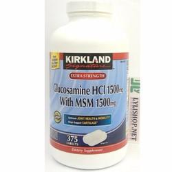 Kirkland Glucosamine 375 viên glucosamine HCl 1500mg MSM 1500mg