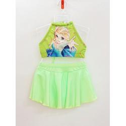 Set áo yếm và váy bơi công chúa ELsa