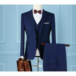 bộ vest xanh tím than