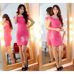 Đầm ôm body trể vai nơ xinh xắn - AV2860