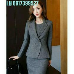 Bộ đầm vest nữ công sở thời trang Hàn QUốc mới L12A187