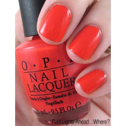 Opi Nail Polish Lacquer Red Lights Ahead...where NL H61