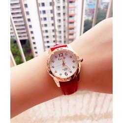Đồng hồ teen cho nữ dây da