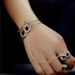 vòng tay nối nhẫn hình cú mèo