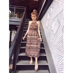 Đầm maxi họa tiết