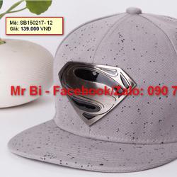 Nón Snapback, Hiphop logo Superman ấn tượng, cực ngầu, hàng độc giá rẻ