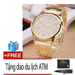 Đồng hồ nam dây hợp kim Geneva + Tặng dao ATM