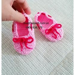 Giày len móc handmade size 0 - 2 tháng