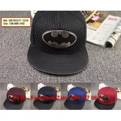 Nón Snapback, Hiphop logo Batman ấn tượng, cực ngầu, hàng độc giá rẻ