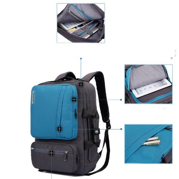 Balo laptop Socko SH-668 đen chính hãng 14
