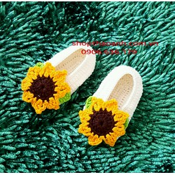 Giày len móc handmade size 3 tháng đến 6 tháng