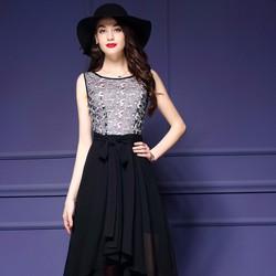 Đầm Dự Tiệc Mullet Phối Ren Cao Cấp