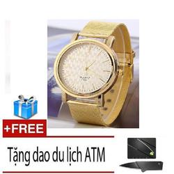Đồng hồ dây thép không gỉ geneva Tặng dao ATM