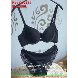 Sét đồ lót nữ áo lót mút mềm và quần phối ren hàng cao cấp DLV132