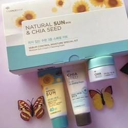 Set dưỡng da và chống nắng Natunal sun Theface Shop